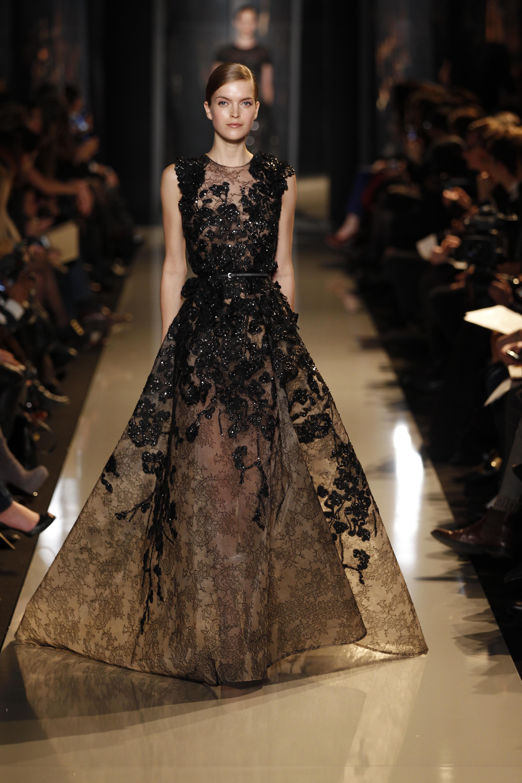 Le d fil elie saab haute couture p e 2013 2014 avenue for A haute couture