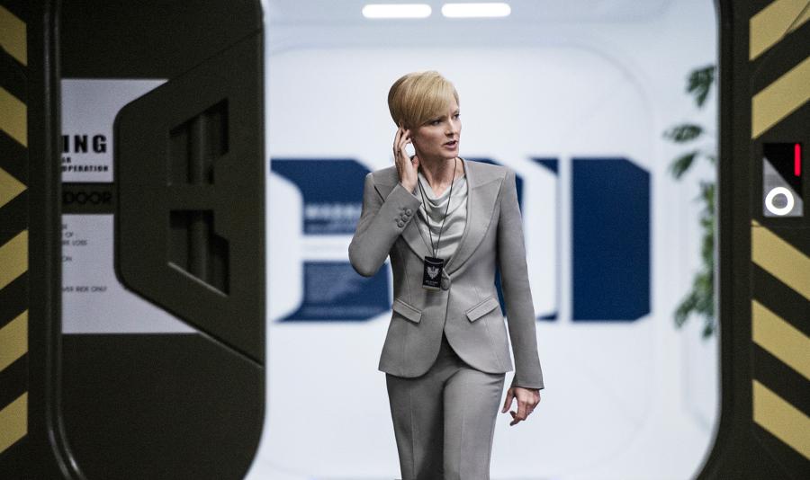 Jodie Foster plays Secretary Delacourt in TriStar Pictures' Elysium.