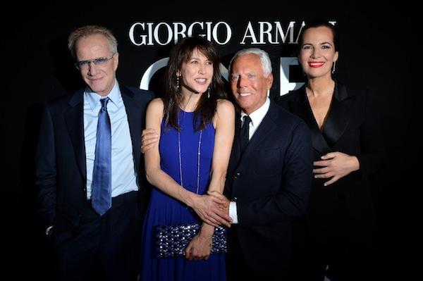 Christopher Lambert, Sophie Marceau, Giorgio Armani and Roberta Armani