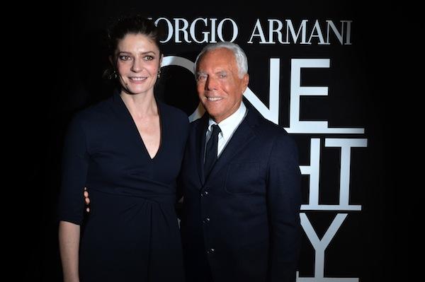 Giorgio Armani and Chiara Mastroianni