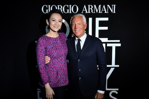 Giorgio Armani and Ziyi Zhang