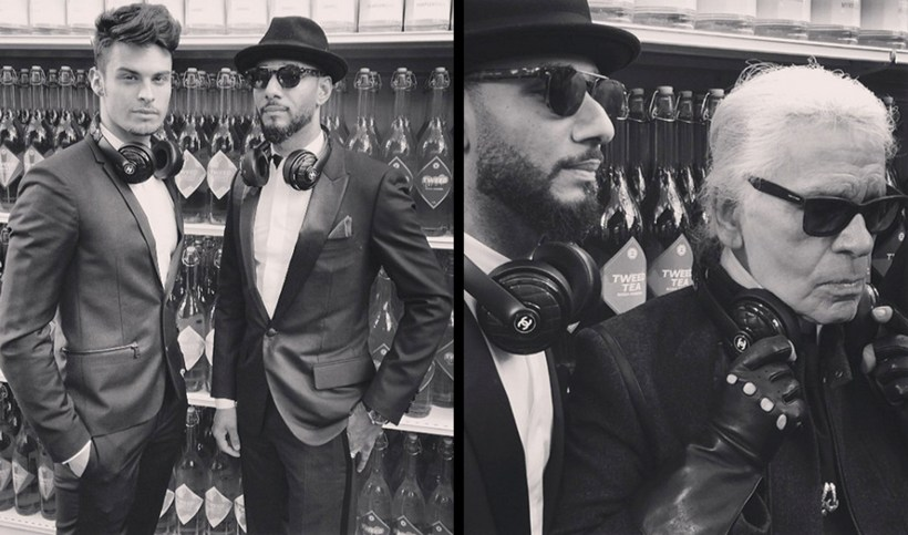 Swizz-And-Karl-Lagerfeld-Wearing-The-Chanel-Beats