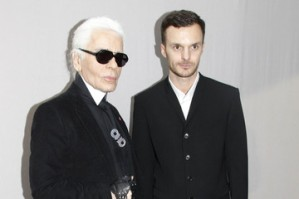 Kris Van Assche et Karl Lagerfeld