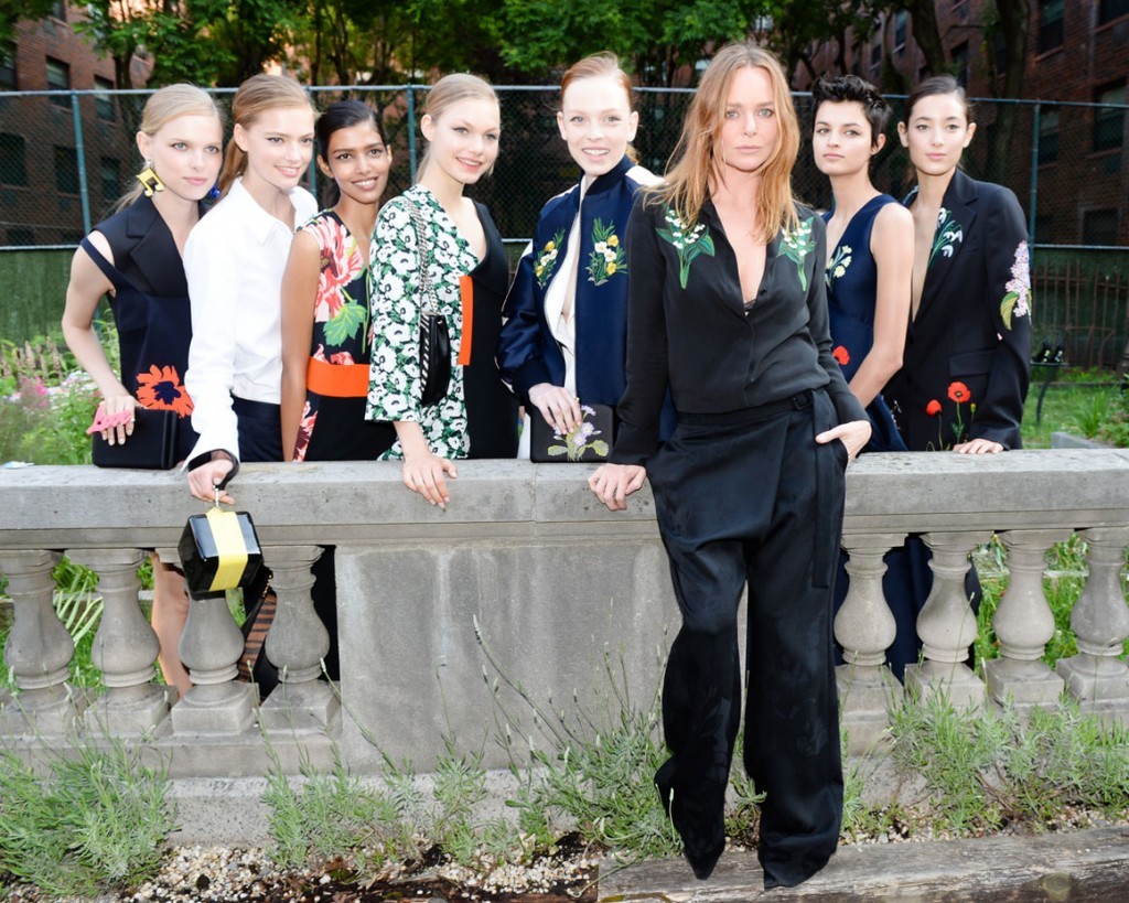 Stella McCartney with her models from 2016 presentation
