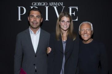 Alvaro De Miranda Neto, Athina Onassis De Miranda and Giorgio Armani - SGP