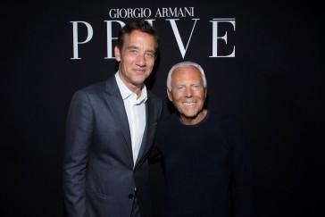 Clive Owen and Giorgio Armani - SGP