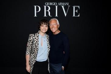 Juliette Binoche and Giorgio Armani - SGP