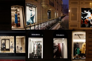 A new column showing the shop windows located at Avenue Montaigne