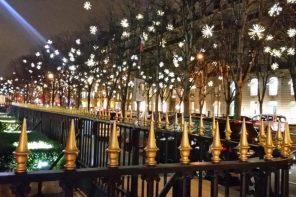 L'Avenue Montaigne s'illumine de mille feux pour Noël